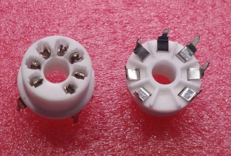 6 pcs. 7-pin miniature PCB-mount tube socket
