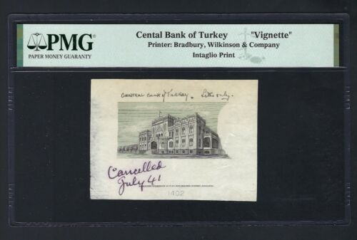 Turkey Central Bank of Turkey July 1941 Canceled Vignette Proof