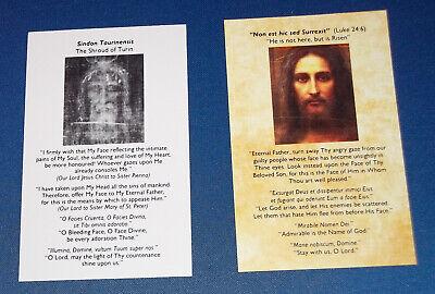 Holy Face - Shroud of Turin Prayer Cards, Holy Cards x 10