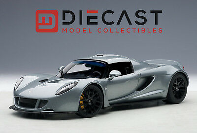 Autoart 75402 Hennessey Venom Gt Spyder  Silver Grey 1 18Th Scale
