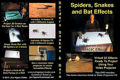 DISCOUNT Spiders Snakes DVD Halloween Video Projection DVD - By Jon Hyers (Discount Halloween Decor)