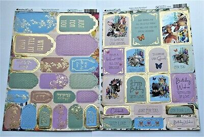 Kanban 2 A4 Foiled Watercolour Woodland Animal Sentiments & Toppers ref 56026/27