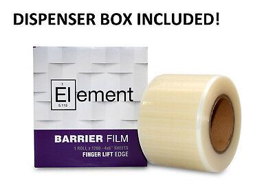 Dental Barrier Film With Dispenser Sticky Wrap Clear 4 X 6 1200 Sheets