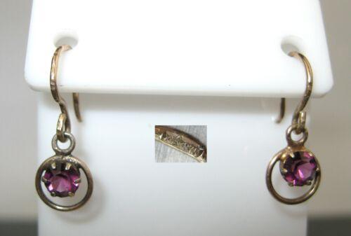 Earrings SILVER 875 Goldplated Soviet Union Russia USSR 0,95 g
