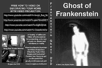 Ghost of Frankenstein Monster-HALLOWEEN WINDOW PROJECTION DVD 2012 JON HYERS - Halloween Ghost Projection Dvd