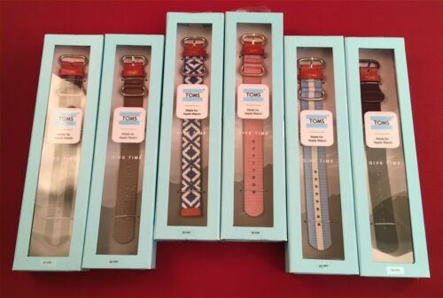 TOMS For Apple Watch Band 38mm & 42mm New - Your Choice of Colors