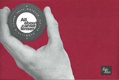 Brochure - Leica - All About Camera Lenses - Product Line Overview c1973 (CB226)