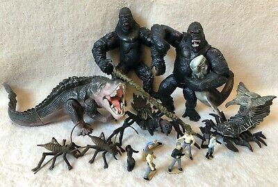 King Kong Playmates 2005  Toy Lot of Action Figures: Foetodon, Bugs, Piranhadon