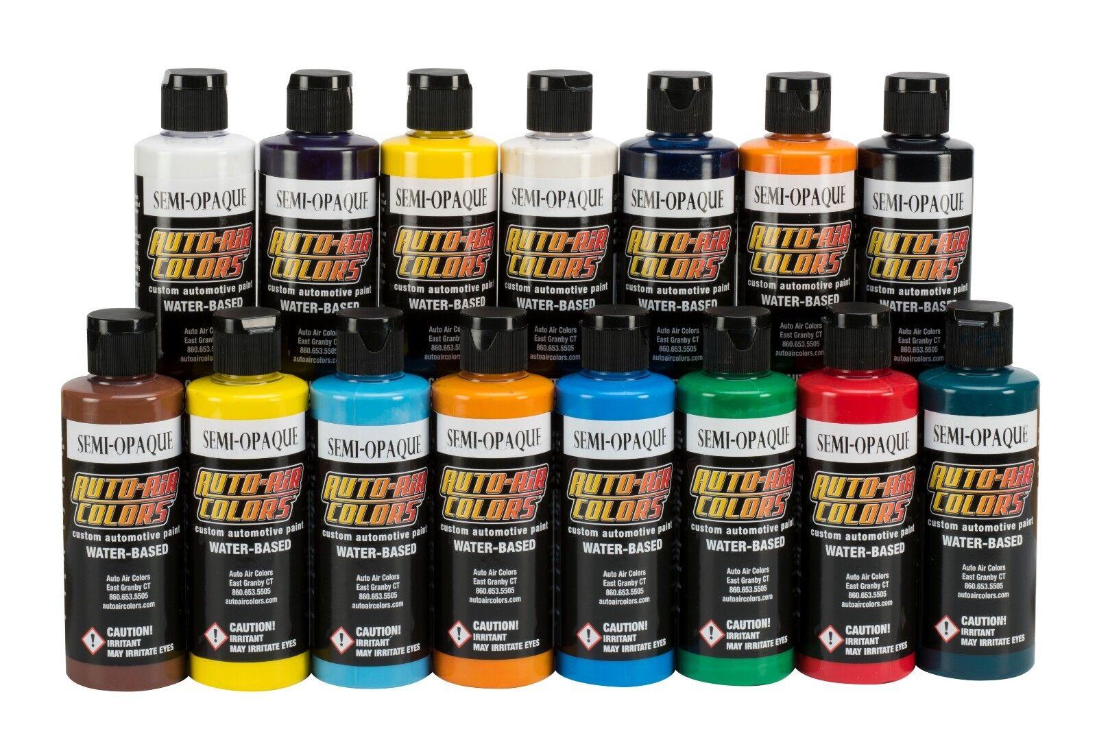 Airbrush Paint - Auto Air Colors Semi-Opaque Series 15 x 4oz