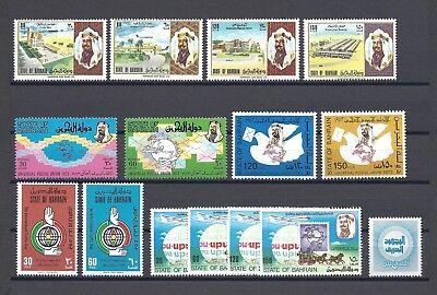 BAHRAIN 1973-74 5 SETS MNH Cat £76.25