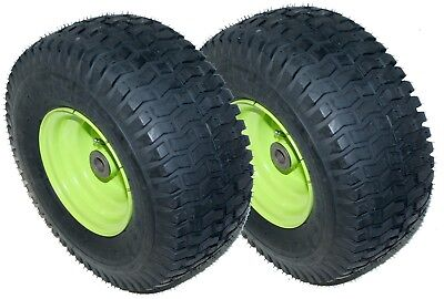 2X 15X6.00-6 Turf Tread Tire and Wheel Assembly: Husqvarna 415947X471 446815X471