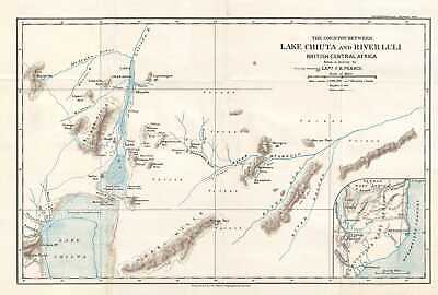 1900 Pearce Map of Malawi and Mozambique (British Central Africa Protectorate)