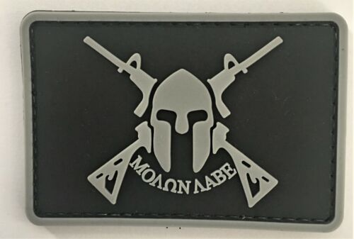 Molon Labe #3 PVC Patch Hook & Loop Recon SEAL Swat Special Forces GB 1275
