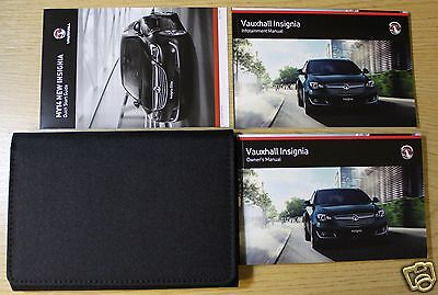 VAUXHALL INSIGNIA OWNERS MANUAL HANDBOOK WALLET 2013-2016 PACK !