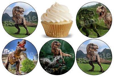 Jurassic World Park Dinosaurier Eßbar Tortenbild Party Deko Muffinaufleger neu