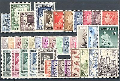 BE - BELGIUM 1951 complete year set MNH