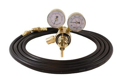 Industrial Argon Regulatorflowmeter Gauges For Mig Tig Welders 5 Feet Hose