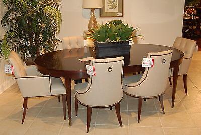 Baker Furniture Thomas Pheasant Mahogany Yves Dining Table 6 Tuft Back  Chair Set
