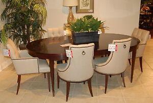 Baker Furniture Thomas Pheasant Mahogany Yves Dining Table 6 Tuft