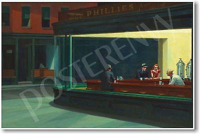 Nighthawks 1942 - Edward Hopper - NEW Famous Fine Art Painting Print (Nighthawks Hopper)