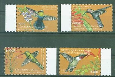 GUINEA 2001 KOLIBRIS HUMMINGBIRDS COLIBRIS BLUMEN FLOWERS NR 3520 23