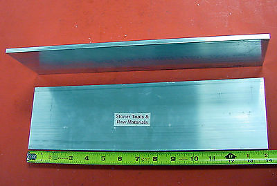 2 Pieces 12 X 4 Aluminum 6061 Solid Flat Bar 14 Long Plate Mill Stock .50