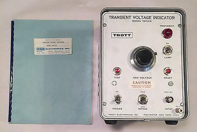 Transient Voltage Indicator Trott Electronics Model Tr741b Used Test Equipment