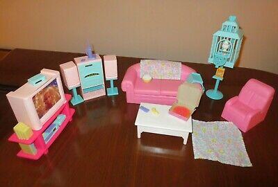 Vintage 1995 Barbie So Much To Do Living Room Furniture Mattel
