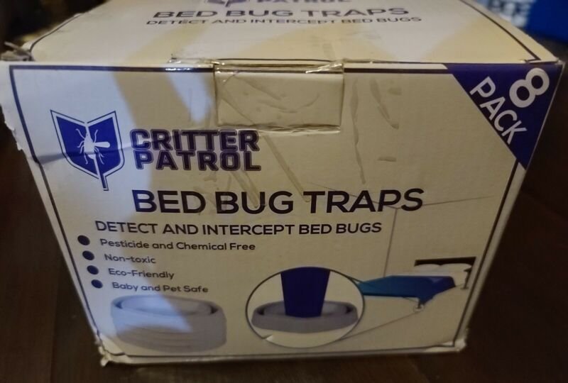 Critter Patrol Bed Bug Traps Detect and Intercept Bed Bugs B10