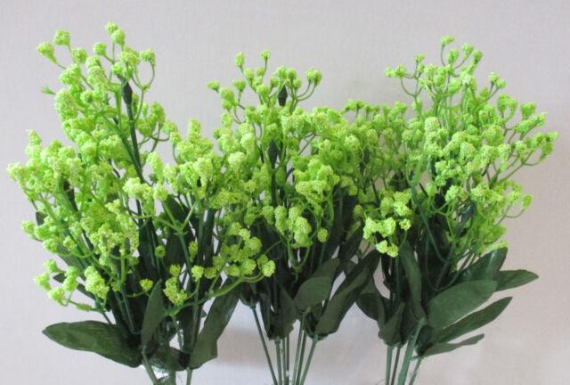 Set of 3 Lime Green Artificial Gypsophila Spray