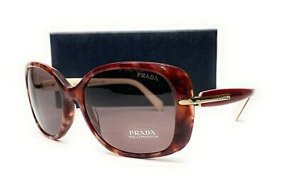 PRADA SPR 08O UE0-6X1 Pink Havana Brown Women's Sunglasses 57mm