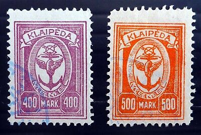 LITHUANIA 1923 MemelOccupation SG34/5 Fine/Used NK346