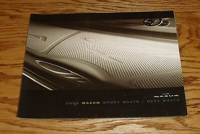 Original 2002 Maxum Sport Boat / Deck Boat Sales Brochure 02