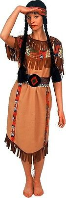 Squaw 3 tlg. Indianer Damen Kostüm Indianerin Kleid gr. 36-54/ (Indianer Kleid)