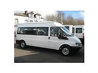 Mini Bus Hire 14 seater available. Coach Hire, Van Hire, National + Local Specialist Service