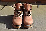 Tan Leather Ladies Ankle Boots - Size 7