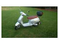 Piaggio Vespa Licensed Scooter 1,460 miles, 2 owners.