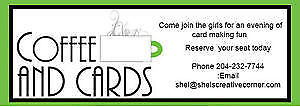Coffee & Cardmaking Class- Tues Oct 4- $20 or FREE