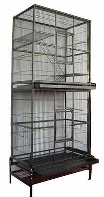 Double Stackable Bird Cockatiel Sugar Glider Rat Wrought Iron Animal Cage 287