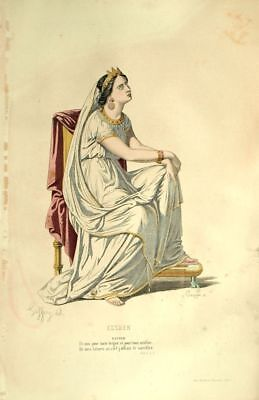 Esther Costume Theatre Jean Racine engraving 19th](Esther Costume)