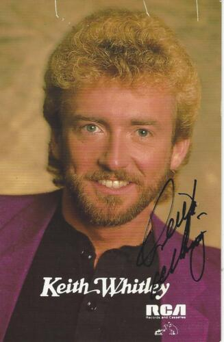 KEITH WHITLEY Signed Autograph RCA Postcard With Ticket & Proof Pic JSA LOA