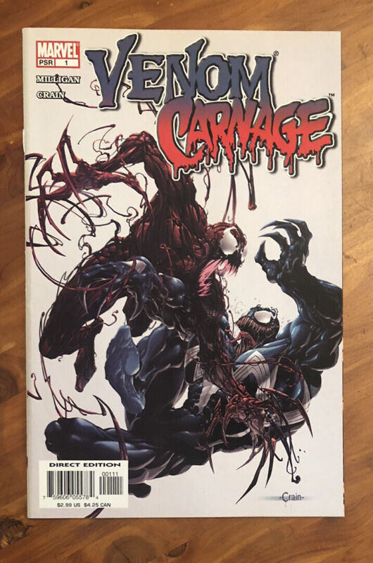 VENOM VS CARNAGE 1 1st appearance Of Peter Mulligan Toxin SEE PICS