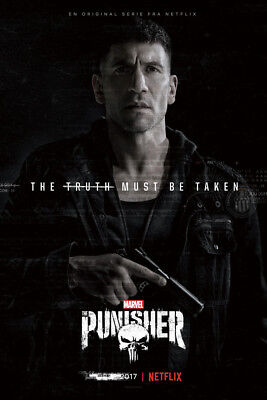 Art Poster The Punisher 2017 Marvel Netflix Tv Series 36 27X40inc Wall Silk N306
