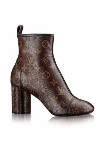 ded7355d NEW, RARE* Louis Vuitton Brown Monogram NEW REVIVAL Ankle Boot Shoes 38, 7.5