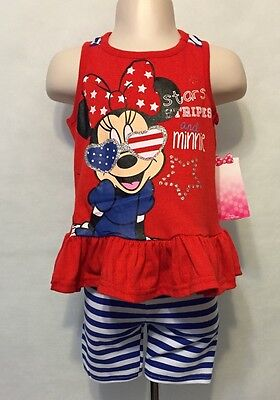 New/Tags 18 Month Disney Baby Girl's 2-Piece Minnie Mouse Outfit