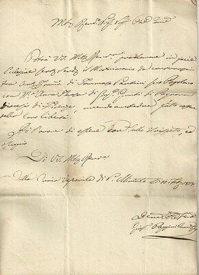Autorizzazione della Diocesi di San Miniato alla Celebrazione di Matrimonio 1817