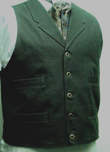 BROWN Frontier Classics Old West Victorian Westworld Son style mens vest new