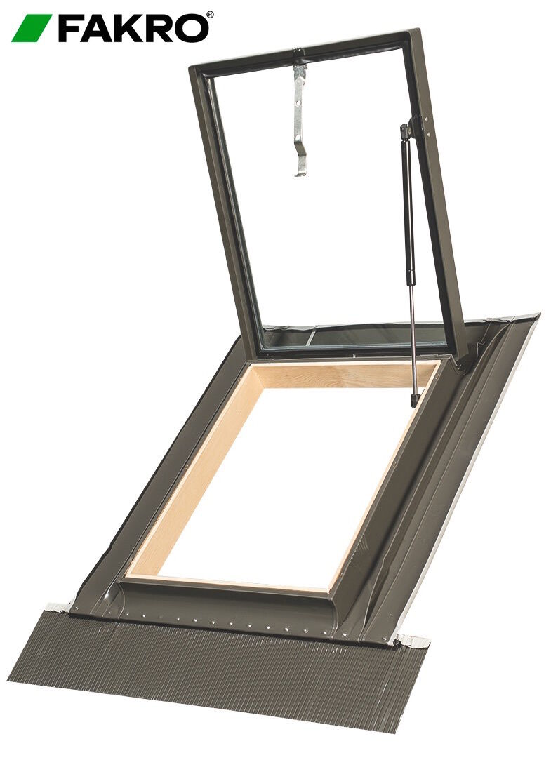 Fakro wgi new with gas spring 46 x75cm skylight access for Window z flashing