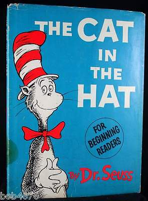 The Cat in the Hat Dr Seuss 1st Edition 1st Printing Book with 3rd Issue Jacket