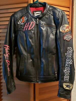Women's Harley Davidson Leather Jacket Joyride 3-in-1 + Hoodie Sz M 97071-11vw